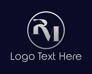 Silver - Eagle R & M logo design