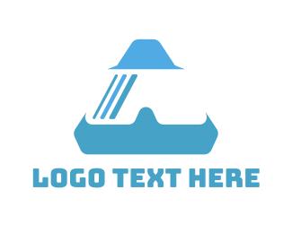 Augmented Reality - Triangle VR Goggle logo design
