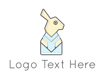 Printer - Rabbit Paper logo design