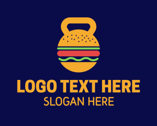 Keto - Kettlebell Hamburger Nutrition logo design