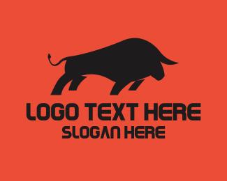 Aggressive Bull Restaurant Logo