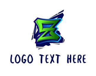 Letter Z - Graffiti Letter Z logo design