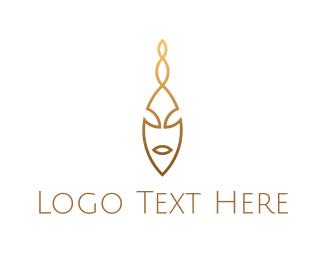 Golden - Golden Face logo design