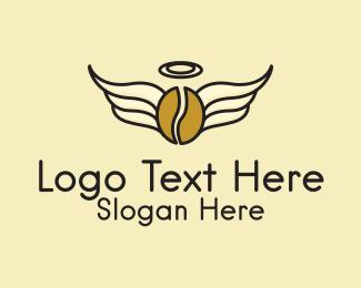 Angel - Angel Wings Coffee  logo design