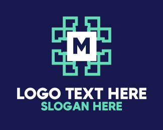 Lettermark - Data Technology Lettermark logo design
