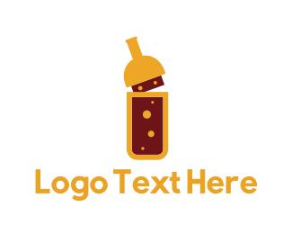 Pub - Yellow Bottle logo design