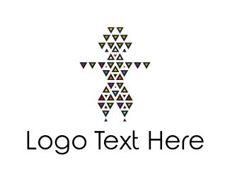 Pattern - Triangle Man logo design