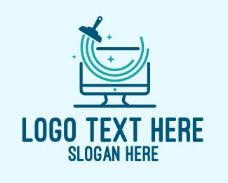 Monitor - Clean Computer Monitor logo design