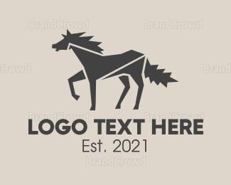 Horse - Wild White Horse logo design