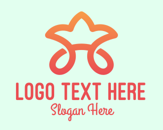 Childrens Fashion - Orange Star Tiara logo design