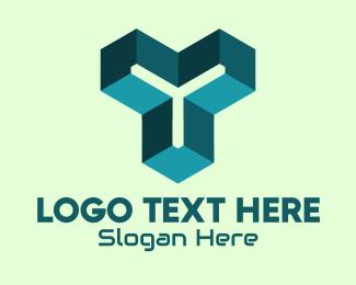 Three-dimensional - 3D Tech Letter Y logo design