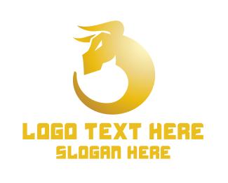 Golden - Golden Bull logo design