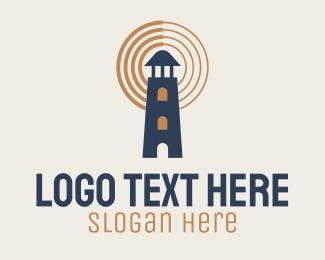 Watchtower - Lighthouse Signal logo design