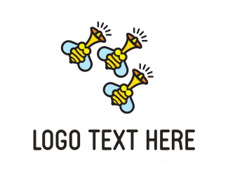 Buzz - Bee Buzz logo design