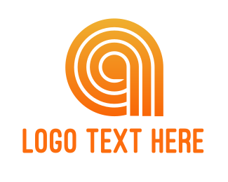 Programming - Orange A Line Pattern logo design