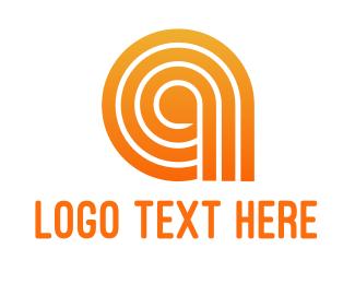 Lines - Orange A Line Pattern logo design