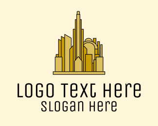 Urban Planner - Gold City Property  logo design