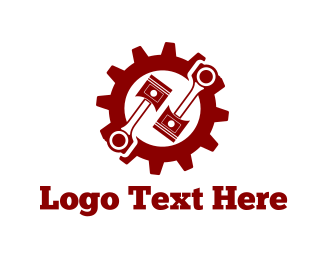 Car Garage - Mechanic Gear logo design