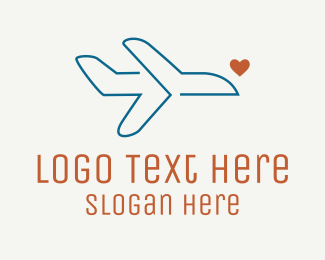 Pilot Training - Monoline Aircraft Love logo design