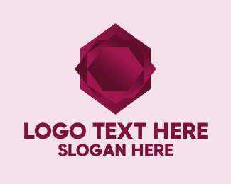 3D Hexagon Rose Logo