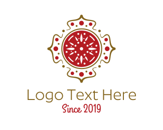 Nepalese Restaurant - Hindi Spa Symbol logo design