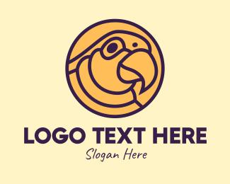 Parakeet - Parrot Bird Circle logo design