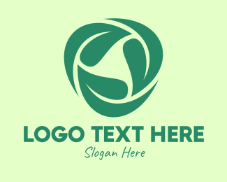 Healthy Food - Green Eco Leaves logo design