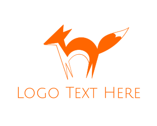 Wisdom - Orange Fox logo design