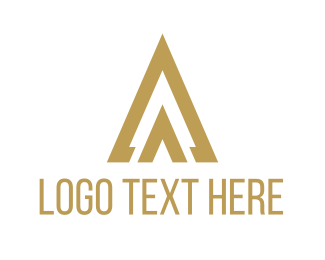 Spear - Golden Triangle logo design
