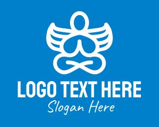 Angel - Angelic Yoga Meditation logo design