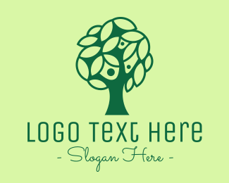 Therapist - Green Tree Family logo design