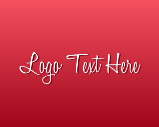 Text - Romantic Text logo design