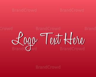 Text - Romantic Text logo design