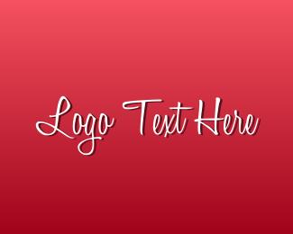 Text - Romantic Text Font logo design