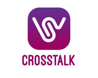 Random W Gradient App  logo design