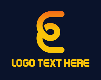 Loop - E Loop logo design