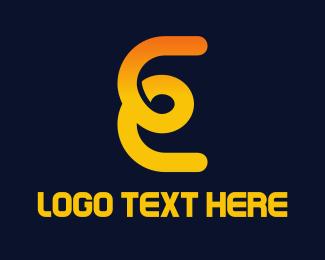Web Development - E Loop logo design