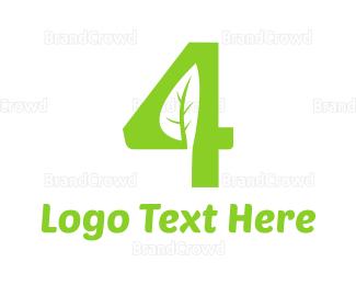 Eco-friendly - Organic Number 4 logo design
