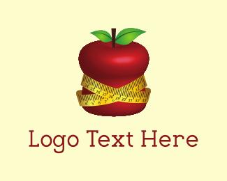Planner - Fit Apple Nutrition Measuring Tape logo design