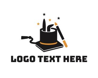 School - Magic Rabbit Hat School logo design