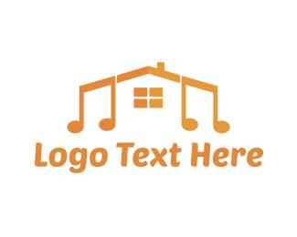 School - House Music School logo design