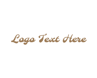 Toffee - Gold  & Vintage logo design