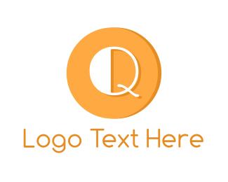 """Modern Orange Q"" by brandcrowd"