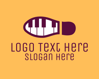 Footprint - Piano Tap Dance logo design