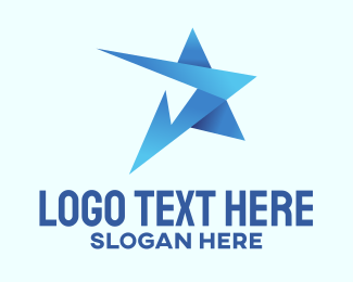 Business - Blue Business Star  logo design