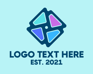 Rotation - Abstract Pastel Art logo design