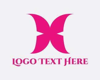 Wing - Pink Wings logo design