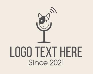 Bark - Grey Dog Podcast logo design