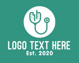 Teal - Teal City Stethoscope logo design