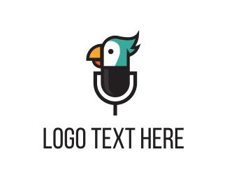 Podcast - Bird Mic logo design